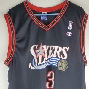 Allen Iverson Sixers Black Basketball Jersey